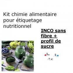 Analyse nutritionnelle INCO sans fibre profil sucre détaillé