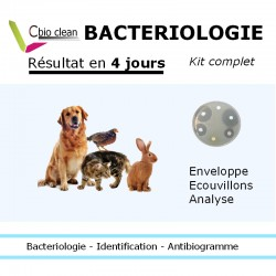 Kit analyse bactériologique chien chat
