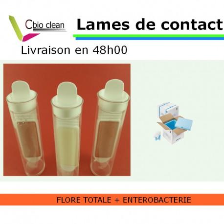 Lame contact flore totale et entérobactérie