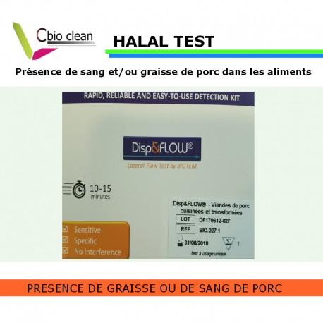 Test halal présence de porc