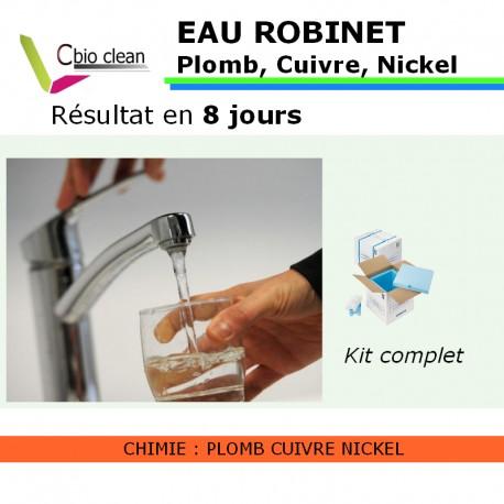 Kit eau robinet plomb cuivre nickel