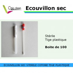 Ecouvillon sec (boite de 100)