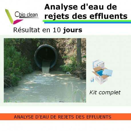 Kit analyse d'eau de rejets