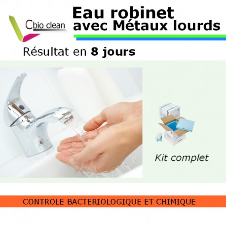 Kit eau robinet potabilité avec métaux