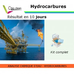 Kit analyse d'eau hydrocarbures