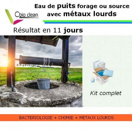 Kit eau puit ou forage potabilité métaux lourds