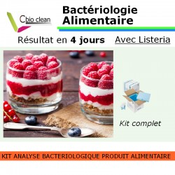 Kit bacteriologie alimentaire avec Listeria
