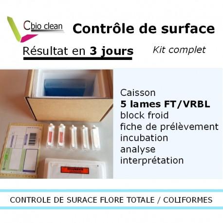 Kit contrôle de surface (flore totale + coliformes)