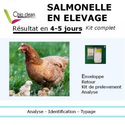 Kit analyse salmonelle elevage poules pondeuse